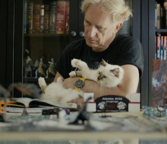 Alain Lescart with His Cat