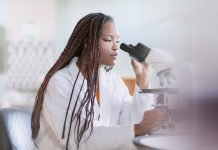 Student at lab