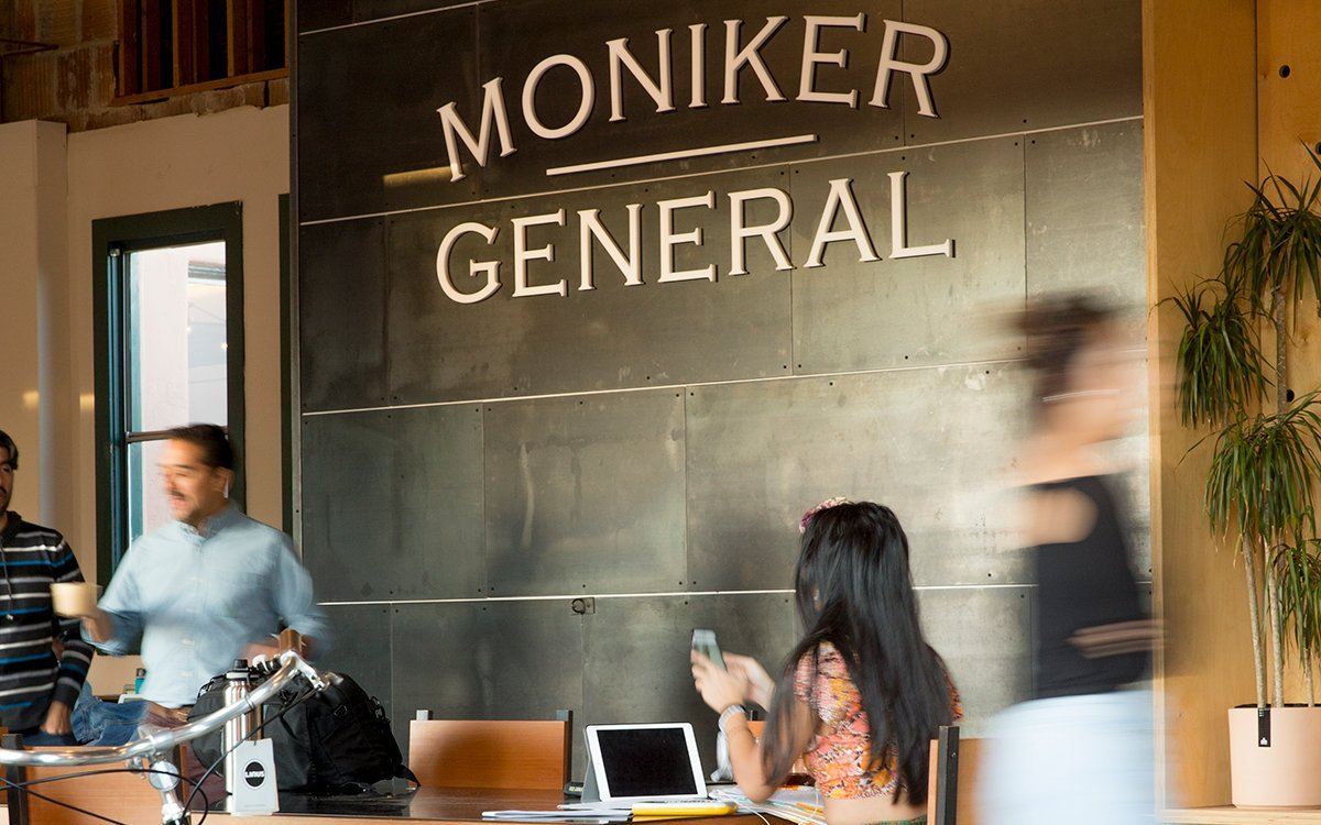 Moniker General's coffee shop is a popular place to gather.