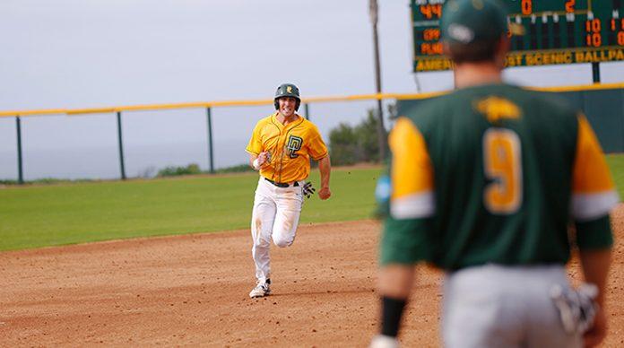 Ryan Garcia running on the baseball field.