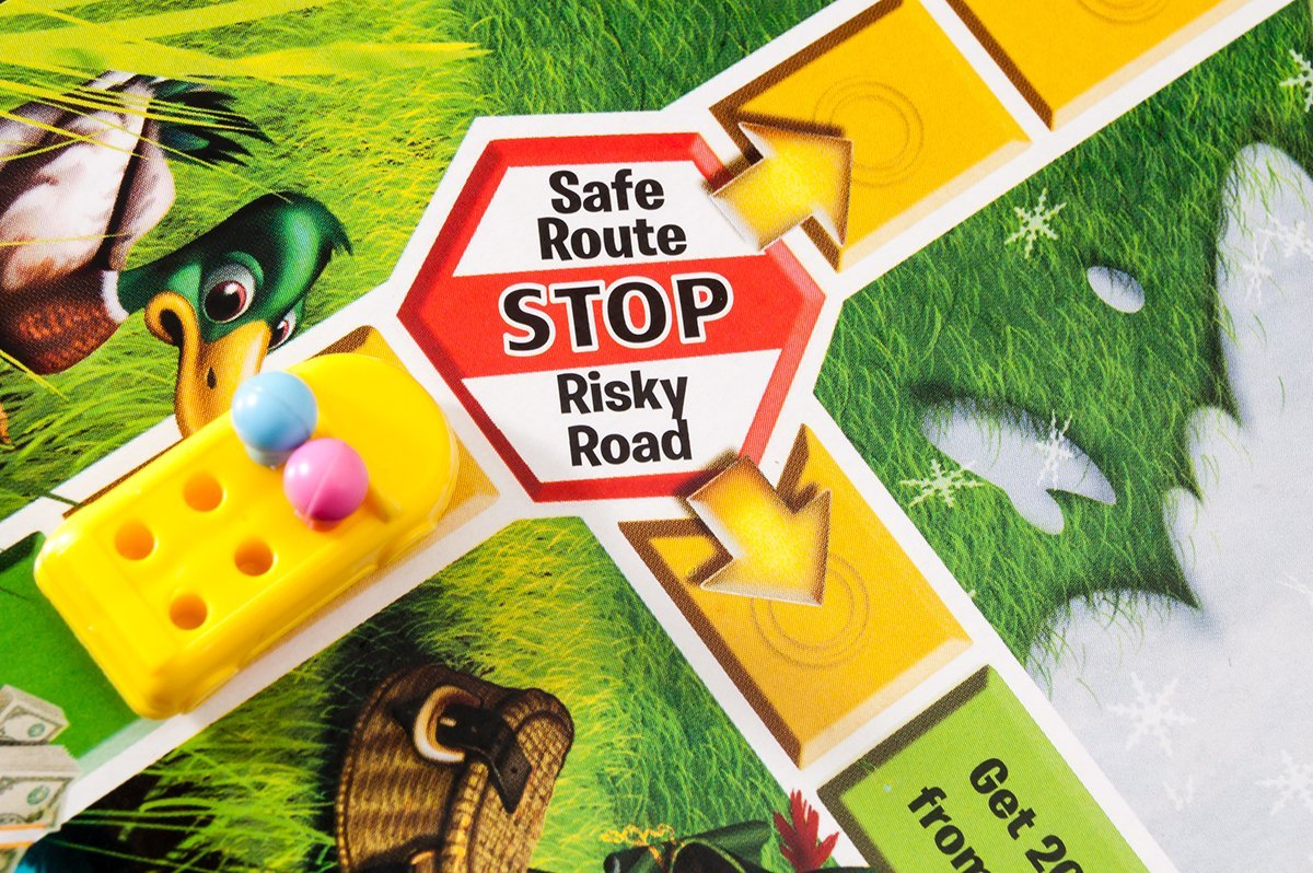 Choosing between risk and safety in The Game of Life