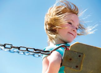 A girl on swing