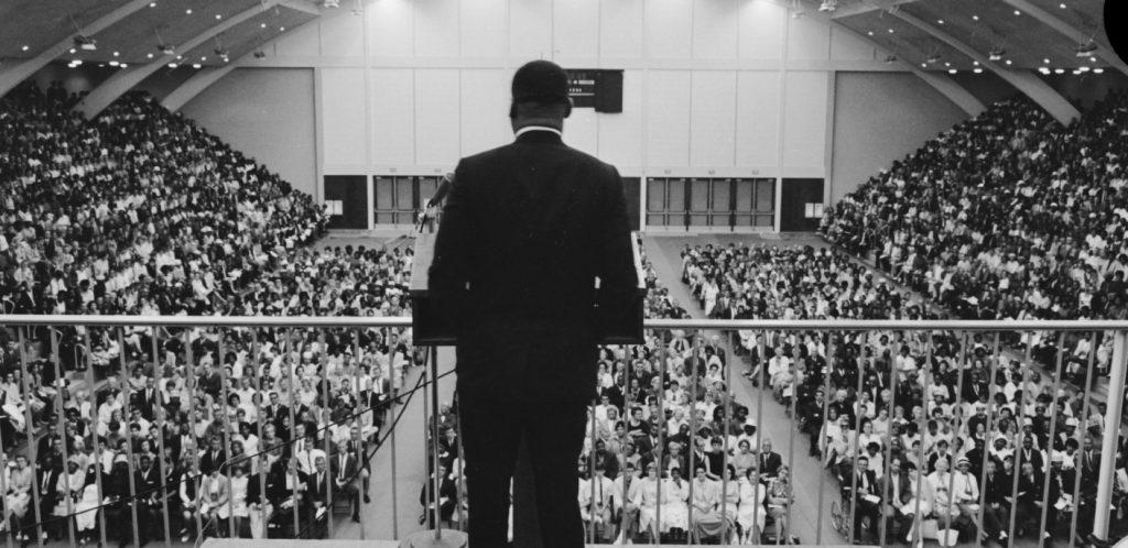 Martin Luther King Jr speaking at PLNU