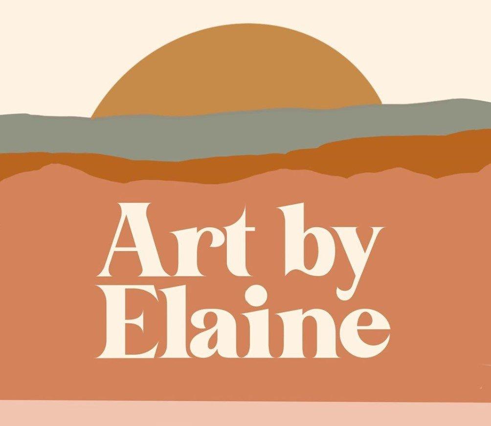 Elaine's logo reads: Art by Elaine