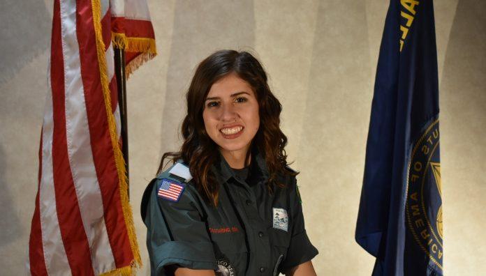 Bella Krassow in uniform