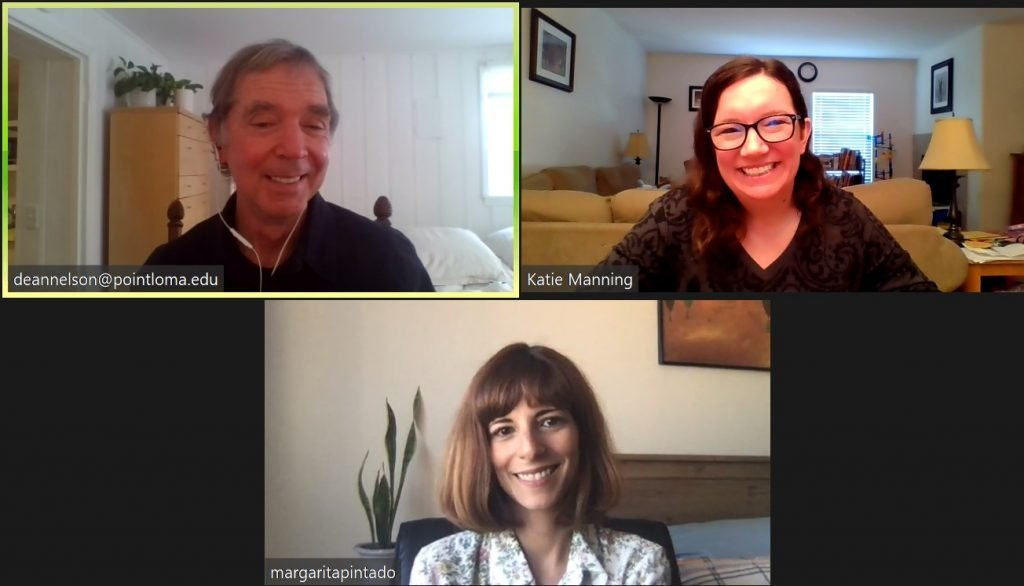 Nelson, Manning, and Pintado on zoom